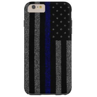 ブルーライン旗のグランジなiPhone 6のプラスの場合を薄くして下さい Tough iPhone 6 Plus ケース