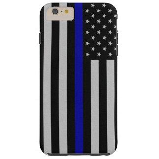 ブルーライン旗のiPhone 6のプラスの場合を薄くして下さい Tough iPhone 6 Plus ケース