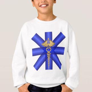 ブルーライン/金ゴールドのケリュケイオンEMTの記号 スウェットシャツ