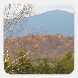 ブルーリッジ山脈VAの景色の写真Shenandoah スクエアシール