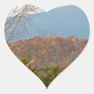 ブルーリッジ山脈VAの景色の写真Shenandoah ハートシール