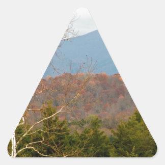 ブルーリッジ山脈VAの景色の写真Shenandoah 三角形シール