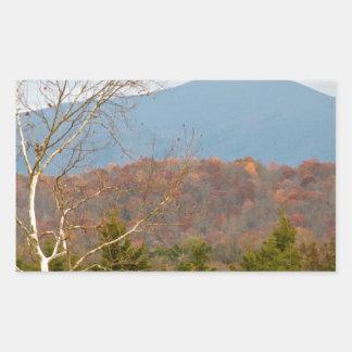 ブルーリッジ山脈VAの景色の写真Shenandoah 長方形シール
