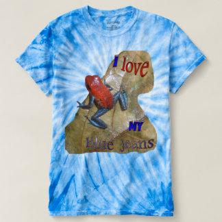 ブルー・ジーンズのカエルのサイクロンのTシャツ Tシャツ