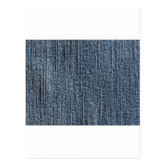 ブルー・ジーンズのデニムの織物 ポストカード