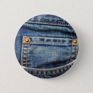 ブルー・ジーンズのポケット 缶バッジ
