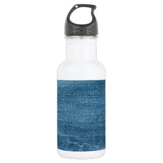 ブルー・ジーンズの背景 ウォーターボトル