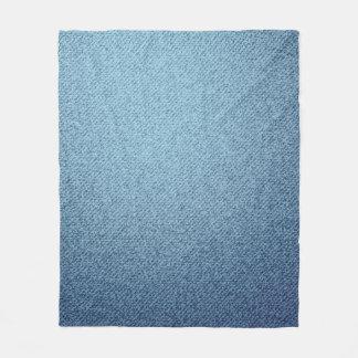 ブルー・ジーンズの質。 荒い織物 フリースブランケット