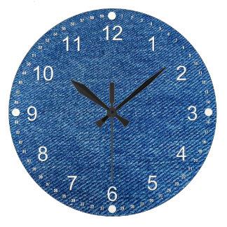 ブルー・ジーンズ ラージ壁時計