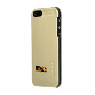 ブレイクの金ゴールドの終わりのiPhoneの場合 メタリックiPhone SE/5/5sケース