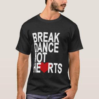 ブレイクダンスのないハートレディースTシャツ.png Tシャツ