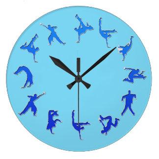 ブレイクダンスの時計 ラージ壁時計