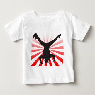 ブレイクダンスの爆発 ベビーTシャツ