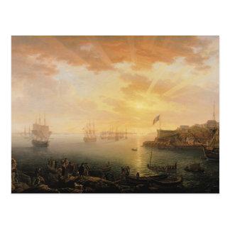ブレスト港1796年の眺め ポストカード