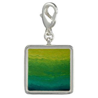 ブレスレットのための美しい水の緑の銀製のチャーム チャーム
