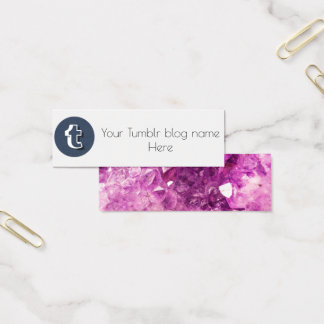 ブログの名刺をadversting tumblrの社会的な媒体 スキニー名刺