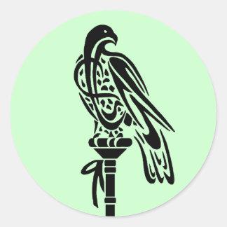 ブロックのとまり木の《鳥》ハヤブサ ラウンドシール