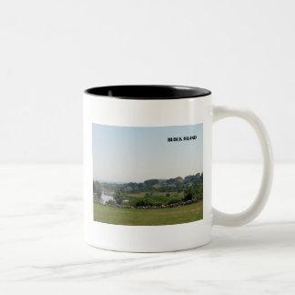 ブロック島のマグ ツートーンマグカップ