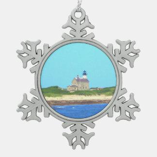 ブロック島の北ライト スノーフレークピューターオーナメント