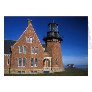ブロック島の南東の灯台Moheganの絶壁 カード