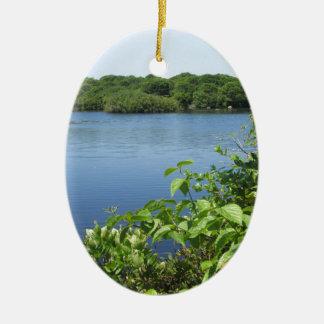 ブロック島の淡水の池 セラミックオーナメント