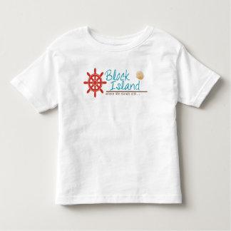 ブロック島はワイシャツをからかいます トドラーTシャツ