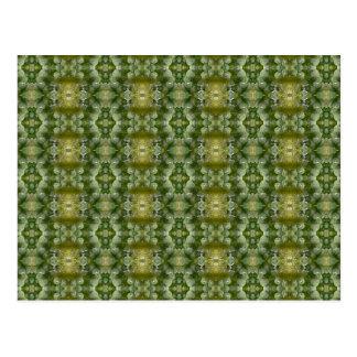 ブロッコリーの芽の抽象芸術の緑パターン ポストカード