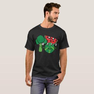 ブロッコリー、スイカおよび芽キャベツ Tシャツ