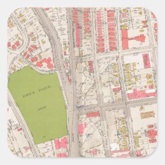 ブロンクスの地図のBorought スクエアシール
