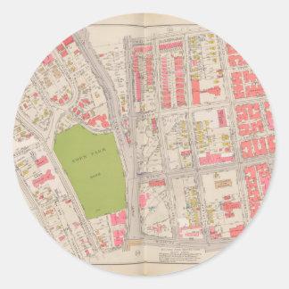 ブロンクスの地図のBorought ラウンドシール