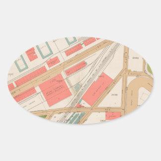 ブロンクスの地図のBorought 楕円形シール
