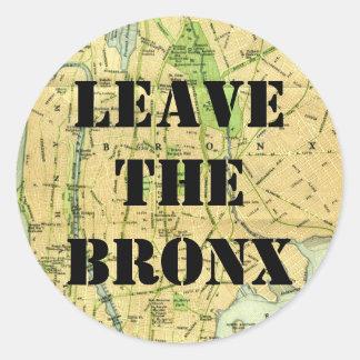 ブロンクスを去って下さい! ラウンドシール