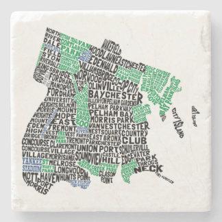 ブロンクスニューヨークシティの活版印刷の地図 ストーンコースター