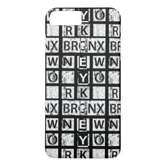 ブロンクスニューヨーク|のグランジなタイポグラフィ iPhone 8 PLUS/7 PLUSケース