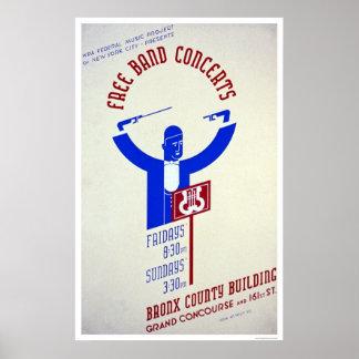 ブロンクスバンドコンサート1940 WPA ポスター