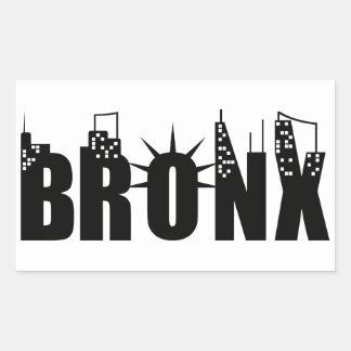 ブロンクス日 長方形シール
