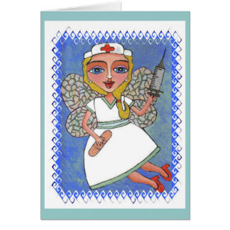 ブロンドのナースの妖精- RN LPNの妖精の国カード カード