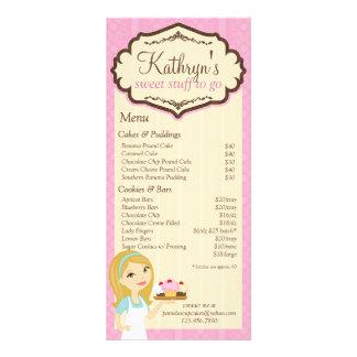 ブロンドのパン屋のカップケーキD12メニュー棚カード3 ラックカード