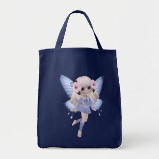 ブロンドのプリンセスの蝶バッグ トートバッグ