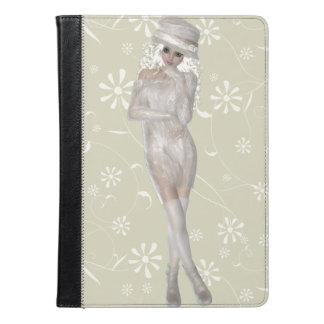 ブロンドの女の子のiPadの空気フォリオの箱 iPad Airケース