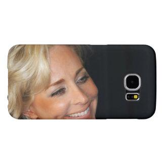ブロンドの女性の微笑 SAMSUNG GALAXY S6 ケース