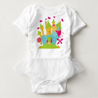 ブロンドの妖精のプリンセスの赤ん坊のチュチュのボディスーツ ベビーボディスーツ