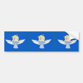 ブロンドの漫画の天使 バンパーステッカー