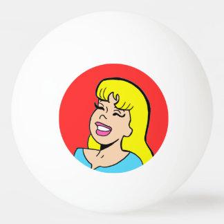 ブロンドの爆弾の続きこま漫画のピンポン球 卓球ボール