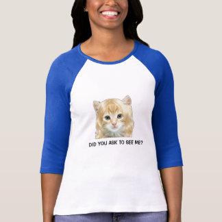 ブロンドの猫のティー Tシャツ
