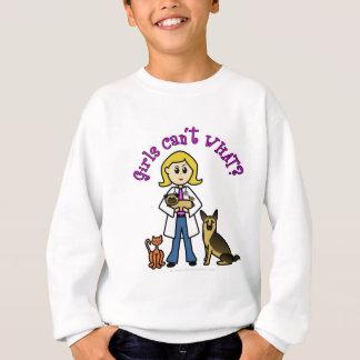 ブロンドの獣医の女の子 スウェットシャツ
