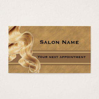 ブロンドの美容師のアポイントメントカードのテンプレート 名刺
