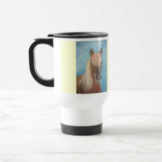 ブロンドの鬣のウマ科のな芸術のクリのロバの馬 トラベルマグ