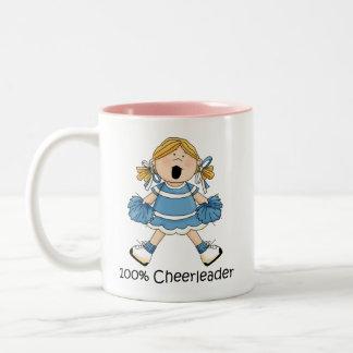 ブロンド100%年のチアリーダー- ツートーンマグカップ