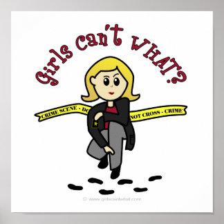 ブロンドCSIの女の子 ポスター
